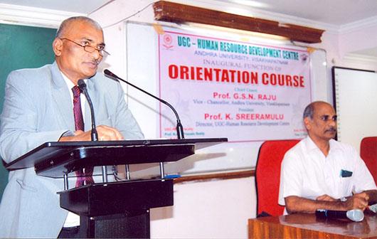 Inaugural Address by Prof. GSN Raju, Vice-Chancellor, AU